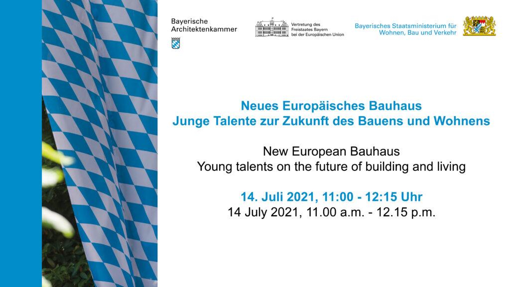 Livestream Bauministerium - Neues europäisches Bauhaus